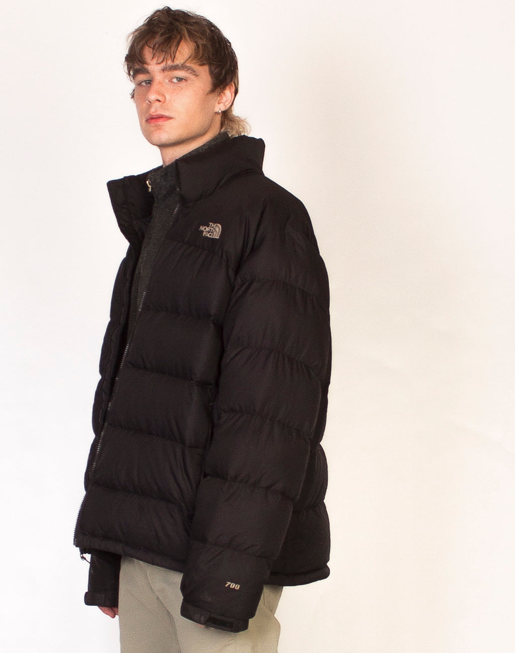 NORTH FACE BLACK PUFFER COAT
