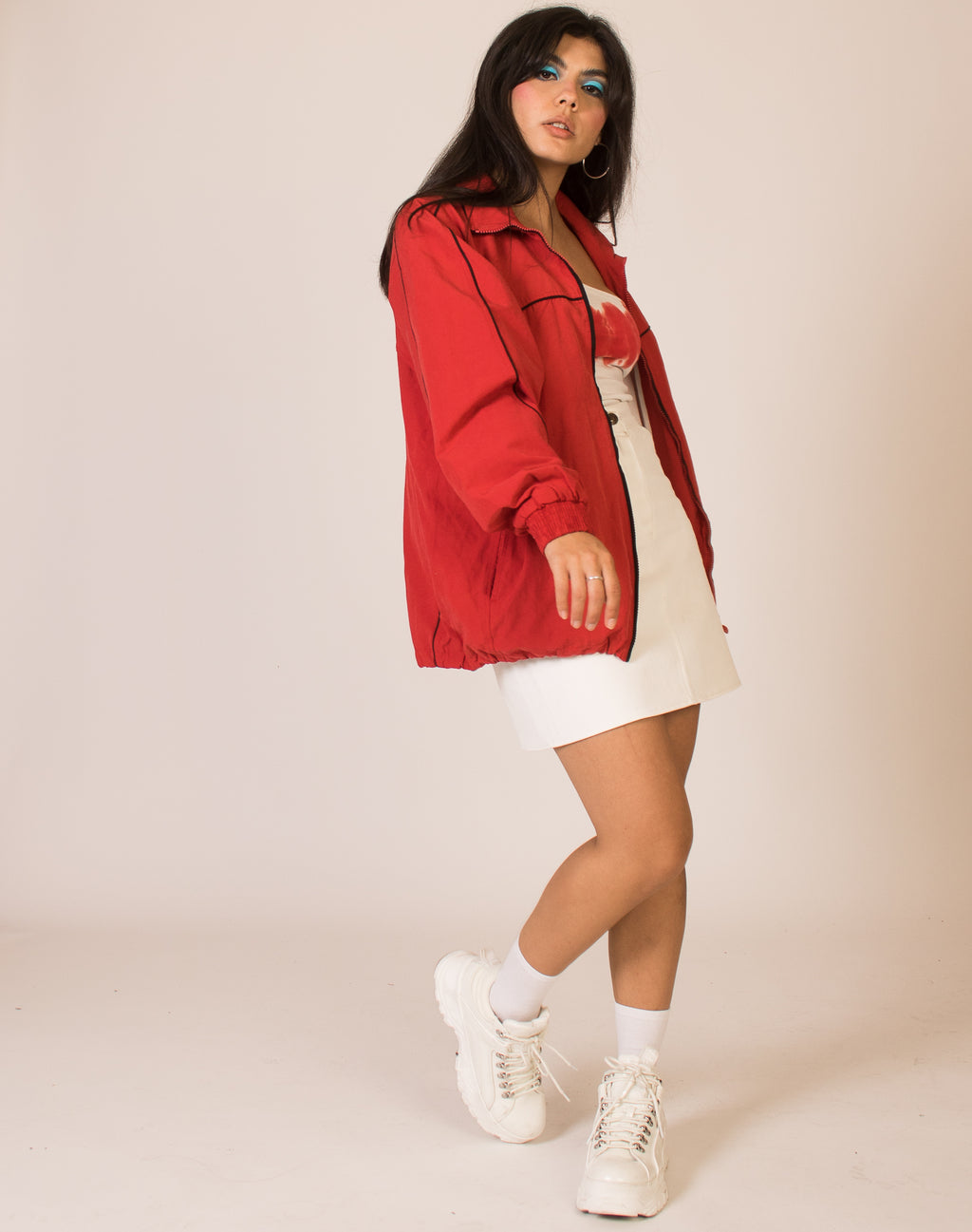 NIKE RED TRACK JACKET