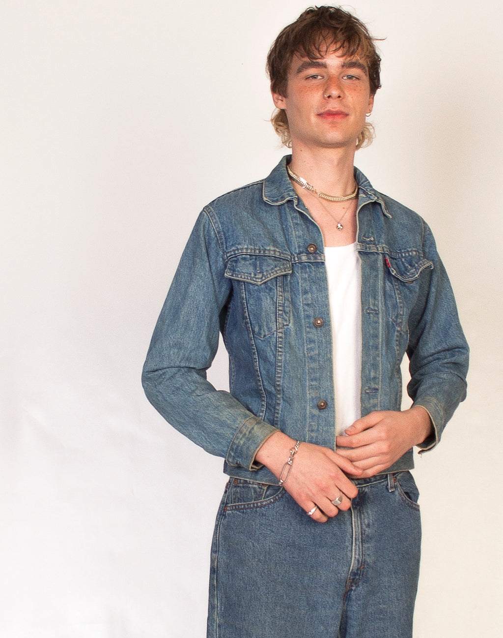 LEVI'S MID WASH DENIM JACKET