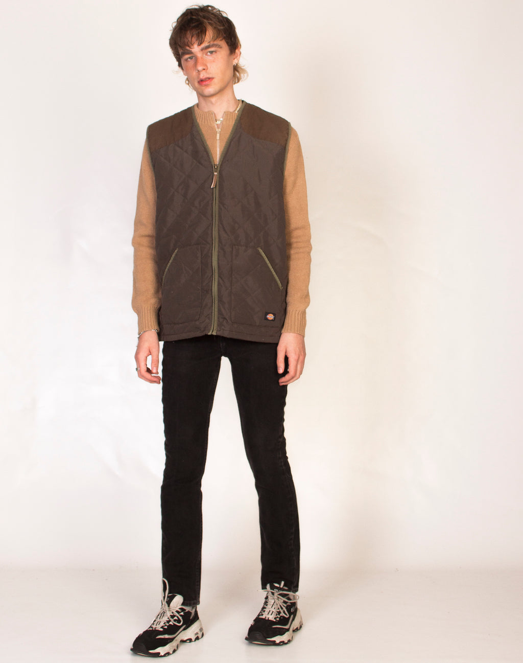 DICKIES KHAKI QUILTED GILET