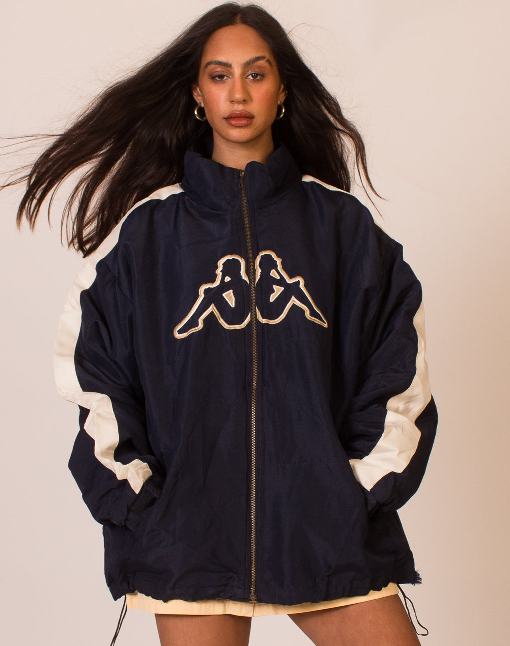 KAPPA NAVY LOGO COAT
