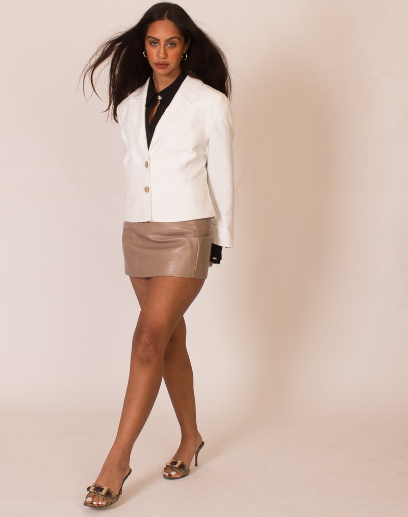 WHITE MINI BLAZER