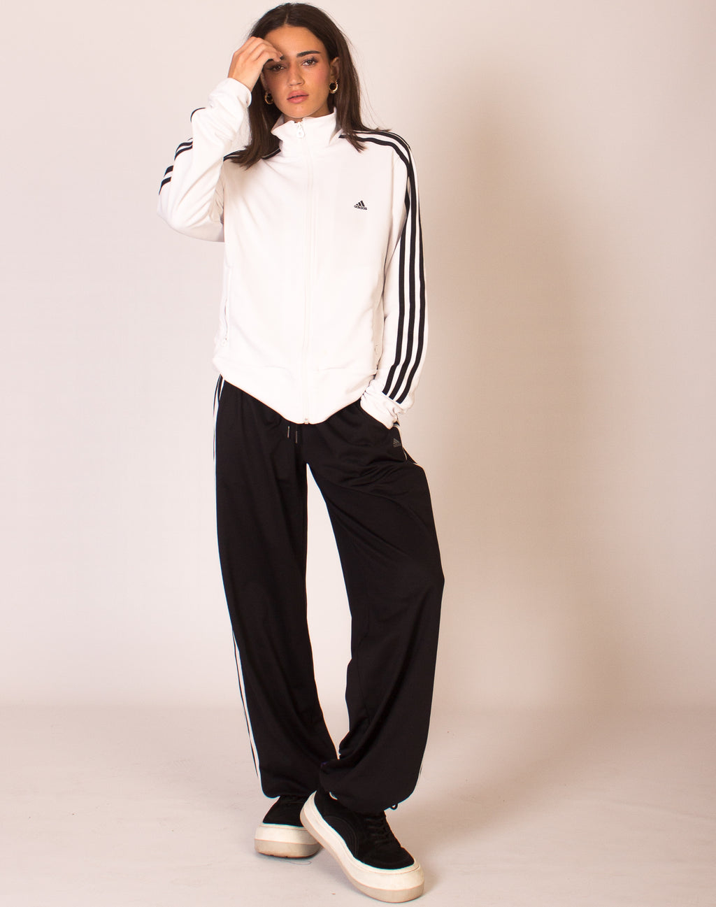 ADIDAS WHITE TRACKSUIT TOP