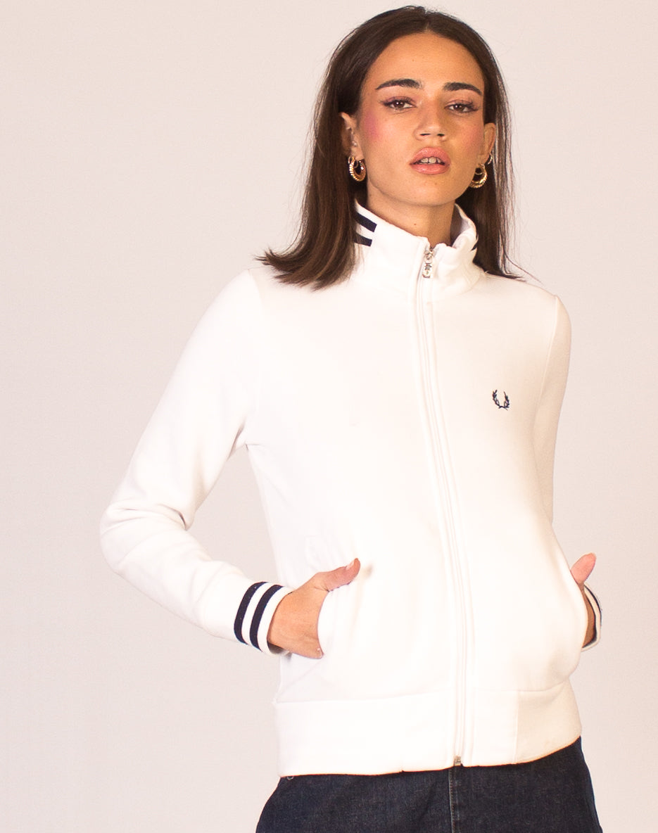 FRED PERRY WHITE TRACK JACKET