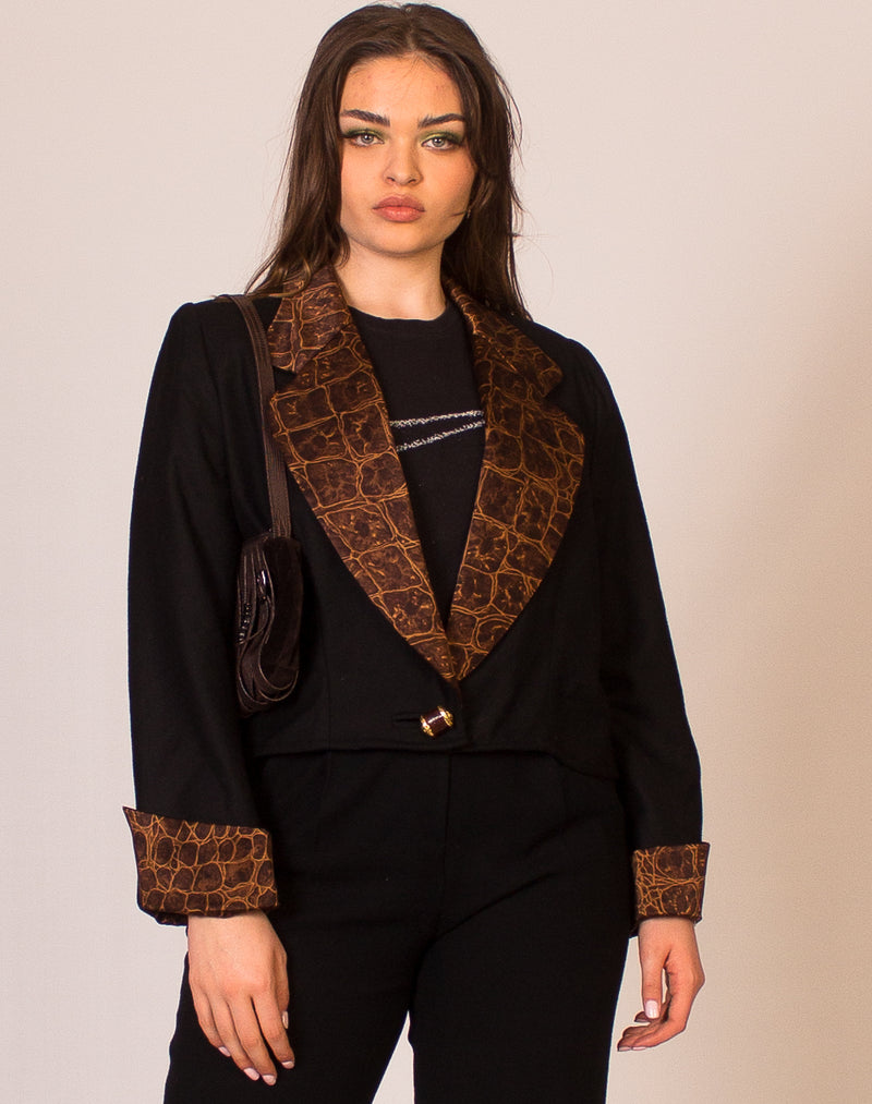 BROWN GOLD BUTTON BLAZER
