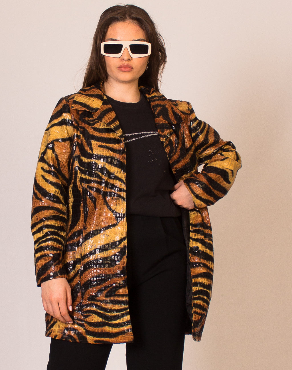 TIGER APPLIQUE JACKET