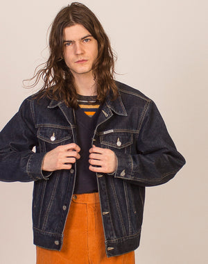 CALVIN KLEIN DARK WASH DENIM JACKET