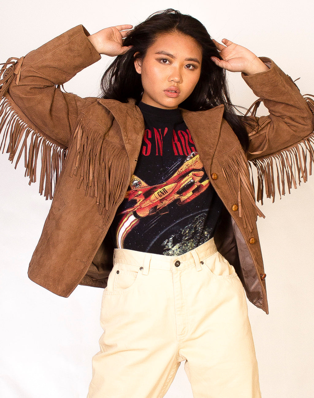 BROWN FRINGE WESTERN JACKET