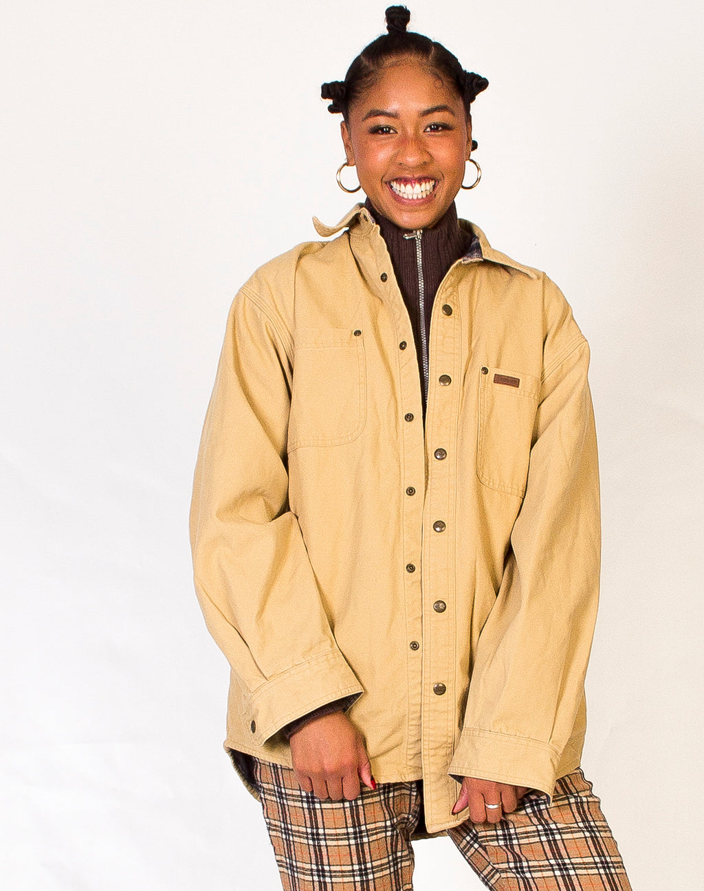 CARHARTT BUTTON DOWN SHACKET