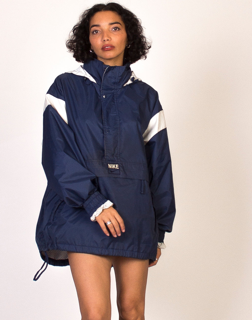 NIKE NAVY WATERPROOF PULLOVER JACKET