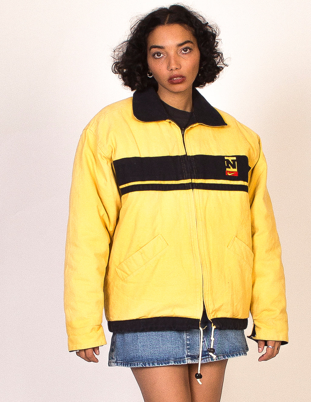 NIKE YELLOW COACH JACKET