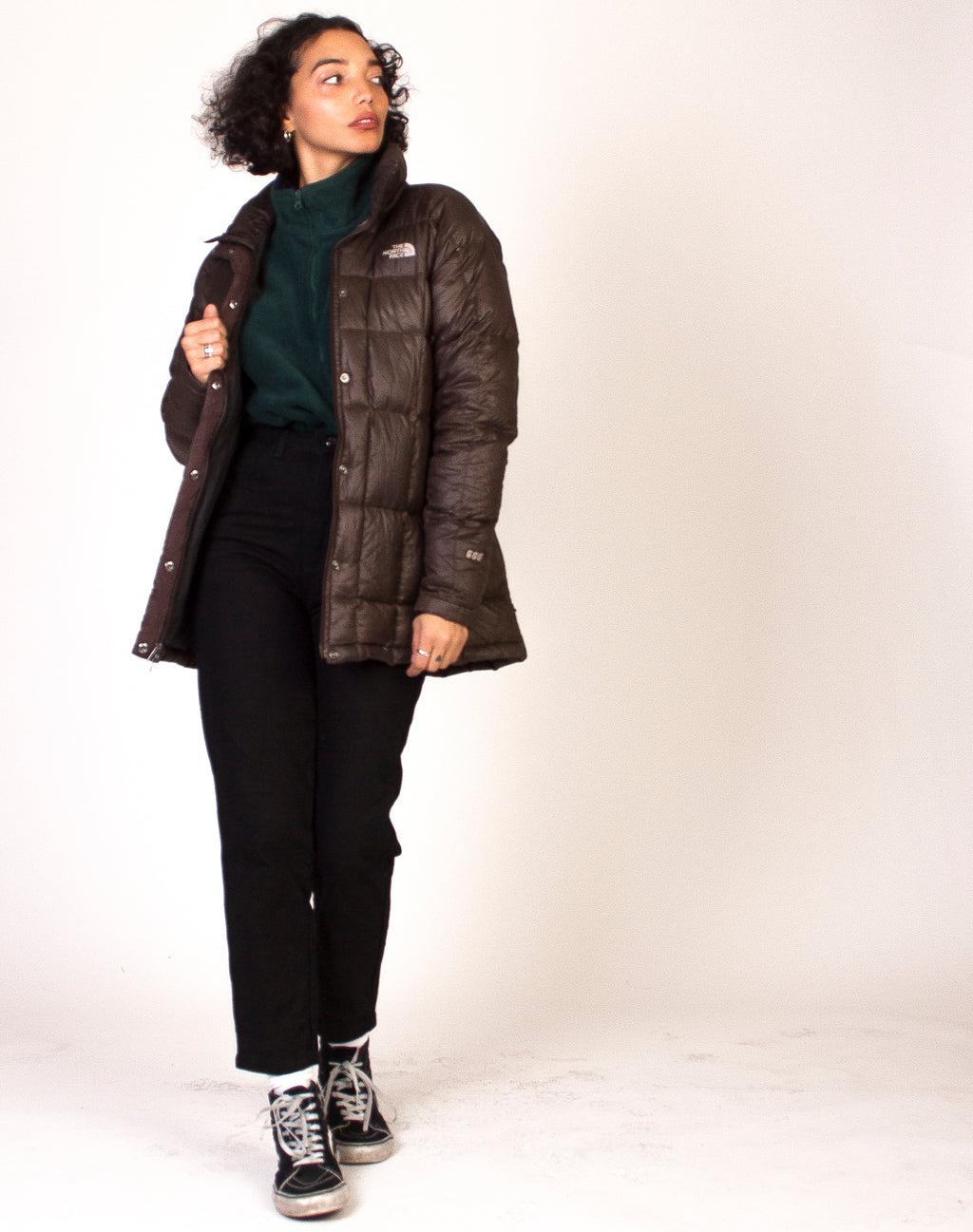 NORTH FACE BROWN PUFFER COAT