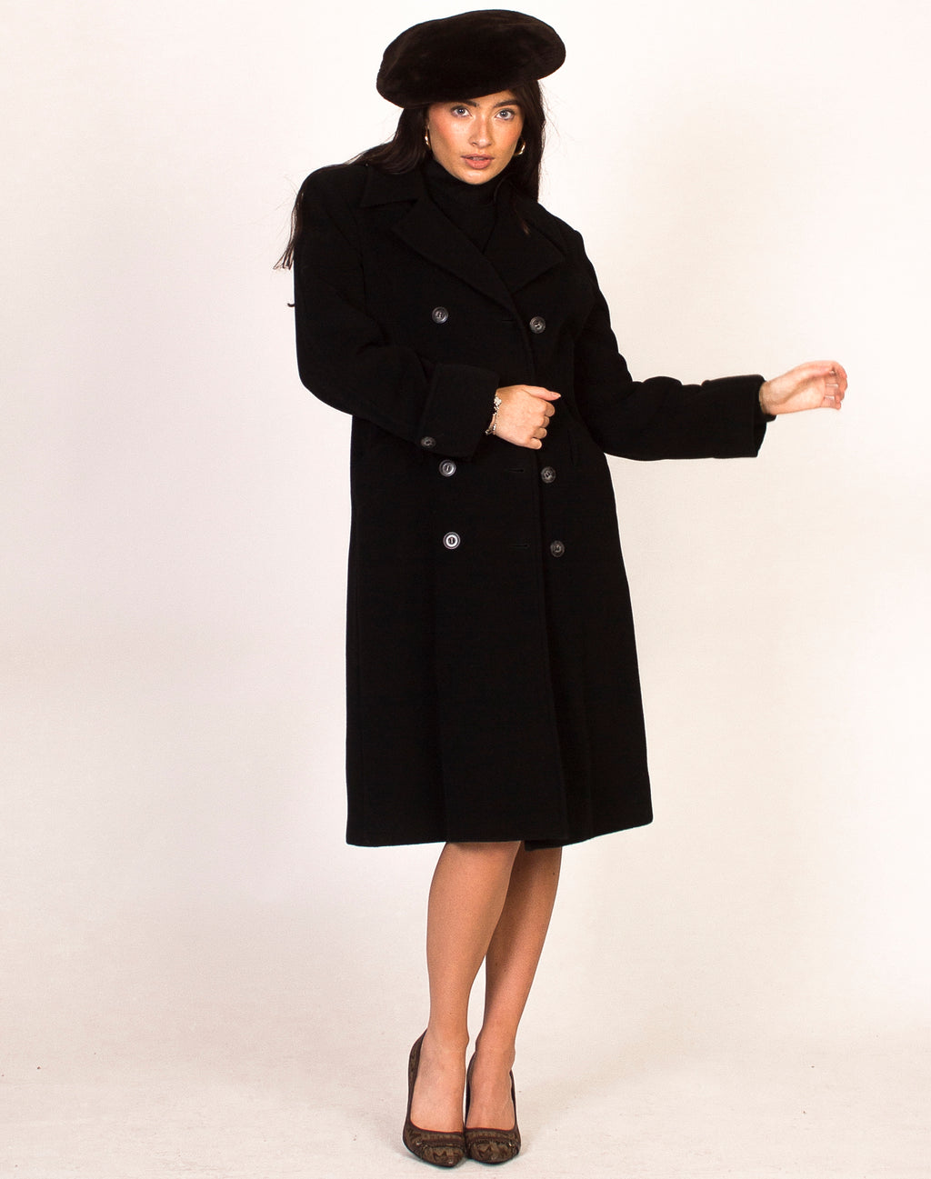 MAX MARA BLACK PEA COAT