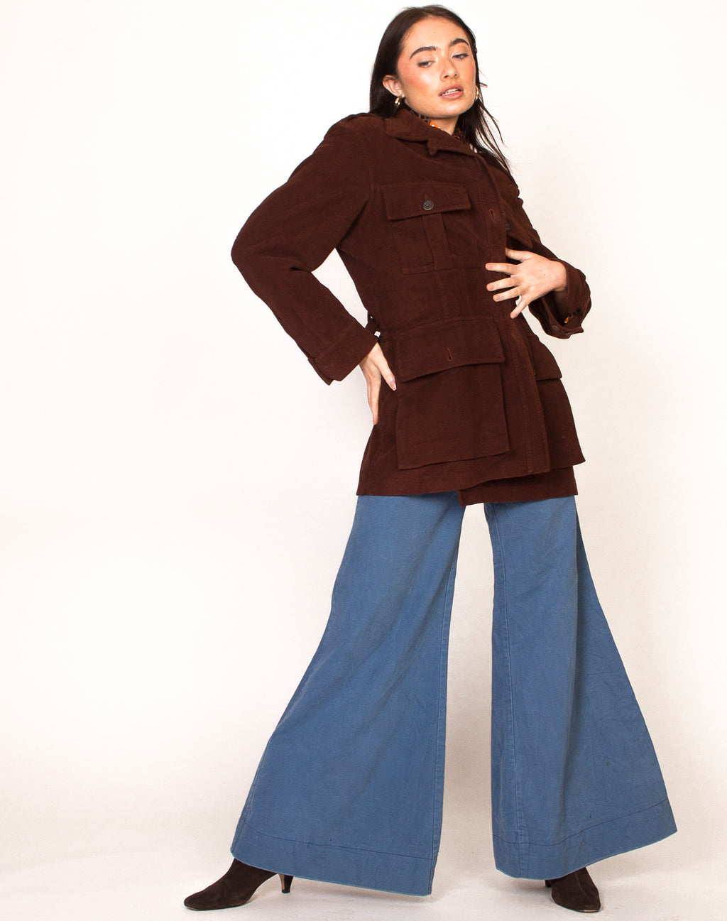 HOLLAND AND HOLLAND 70S SUEDE TERACOTTA JACKET
