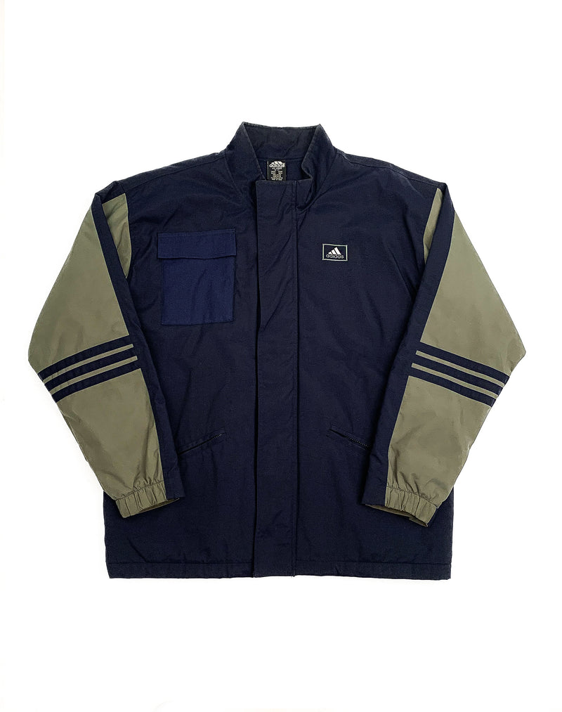 ADIDAS LIME AND NAVY TONI TOP