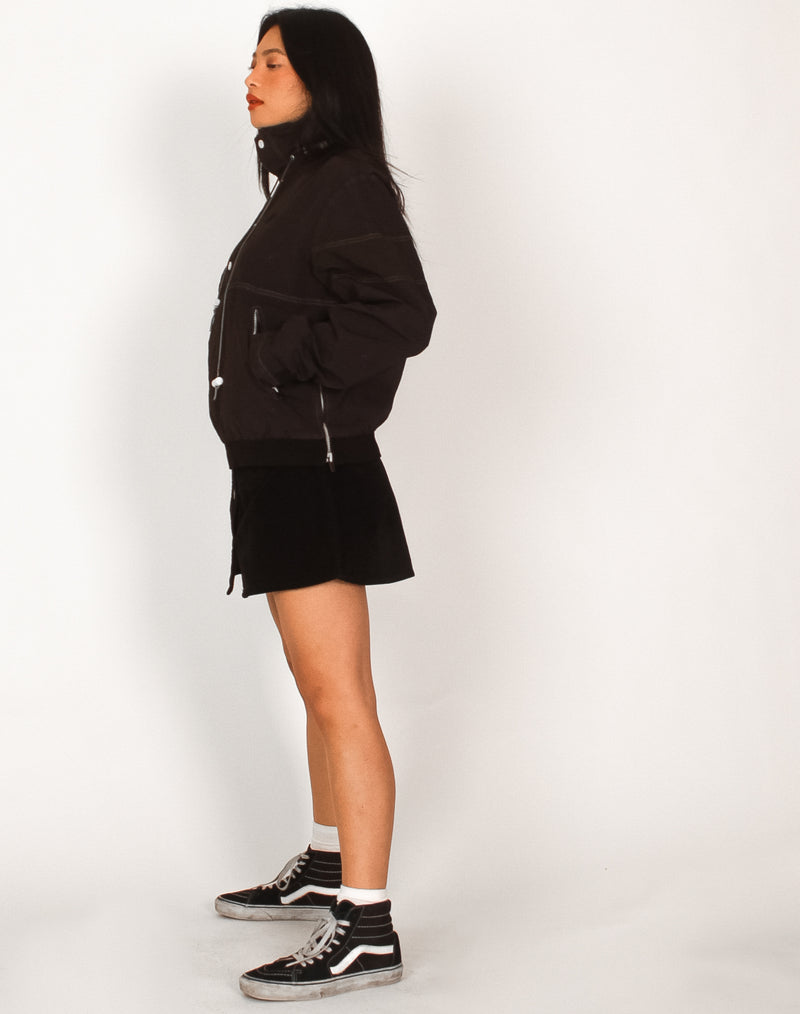 NIKE BLACK CROPPED WATERPROOF PULLOVER JACKET