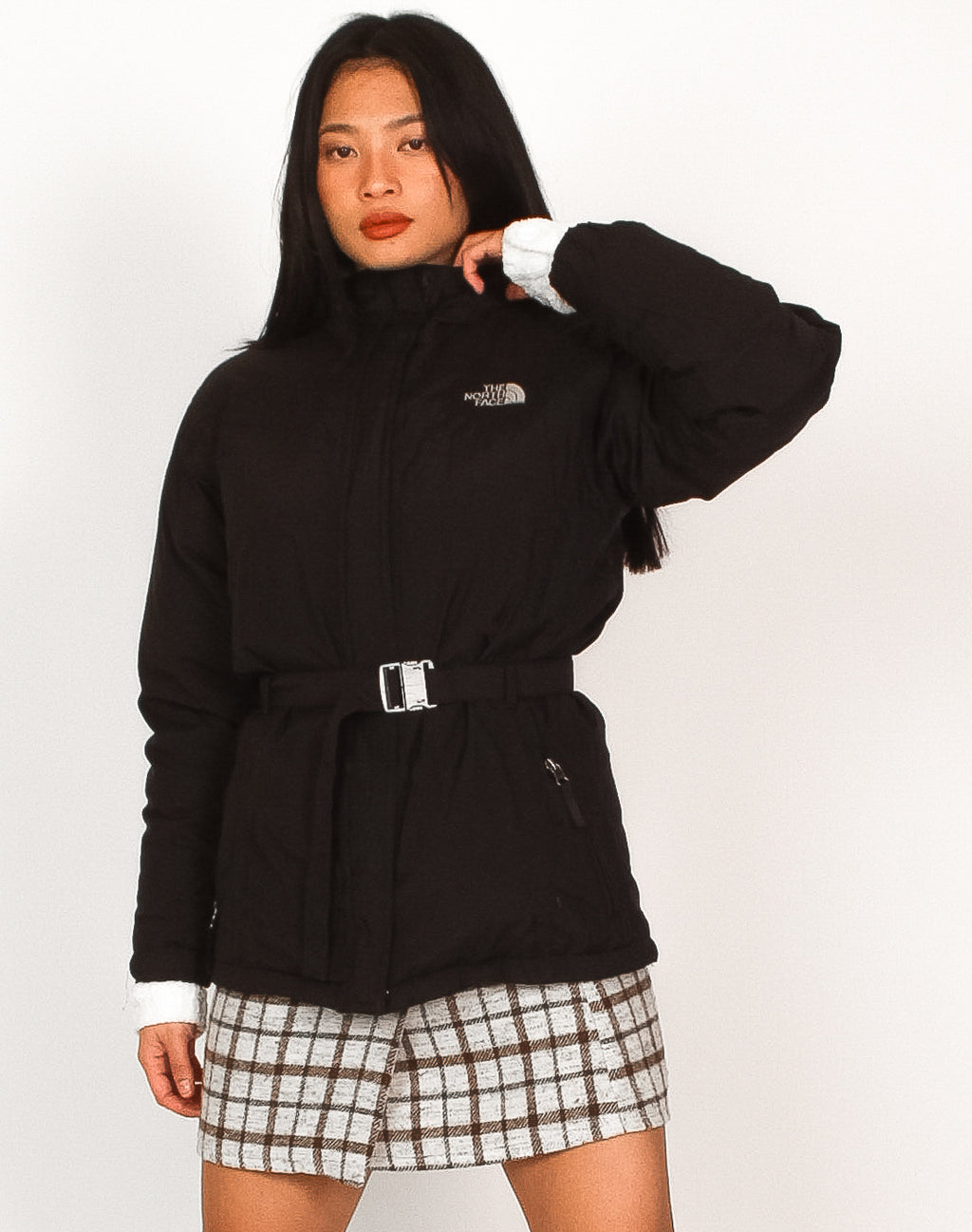 NORTH FACE BELTED PUFFER COAT