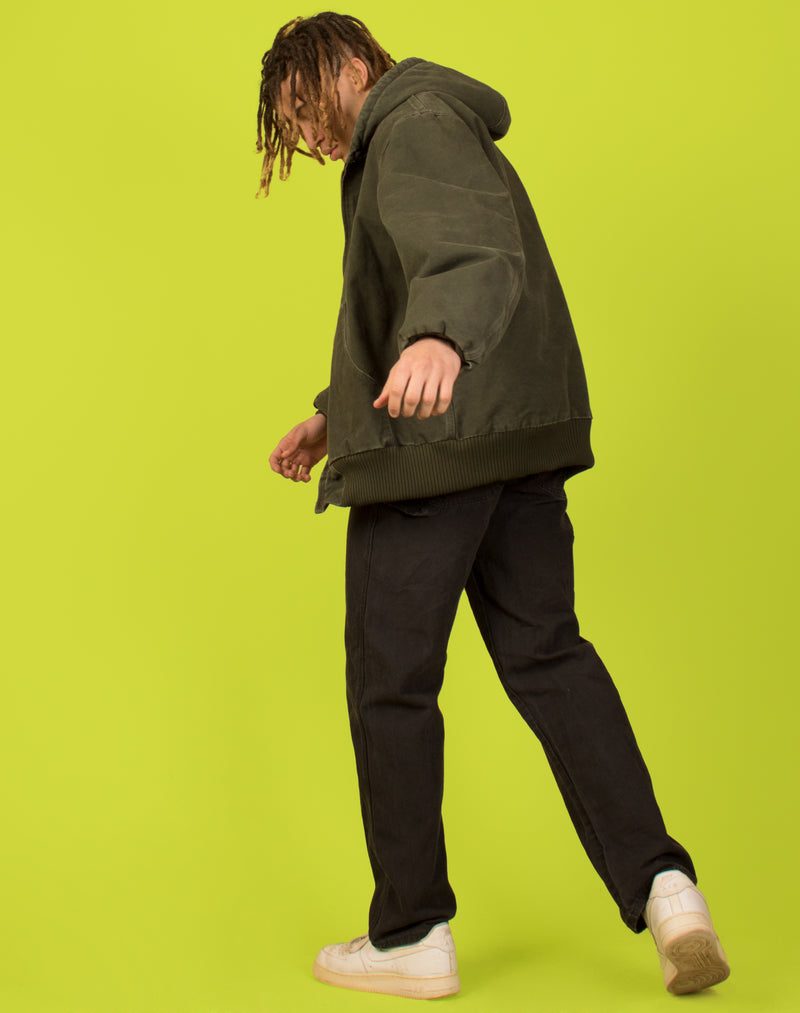 CARHARTT GREEN HOODED COAT