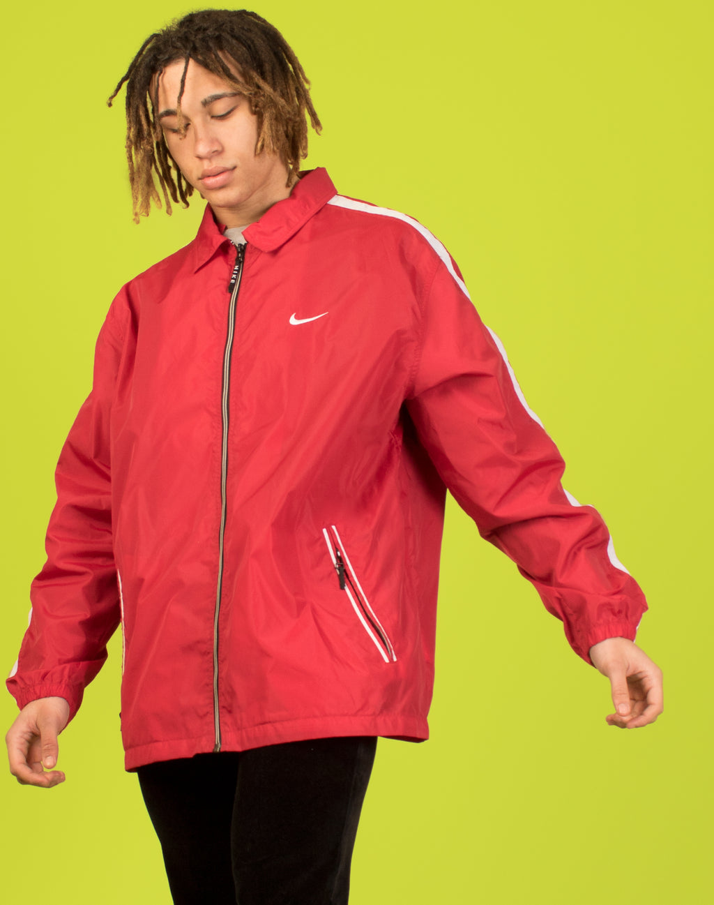 NIKE RED WATERPROOF JACKET