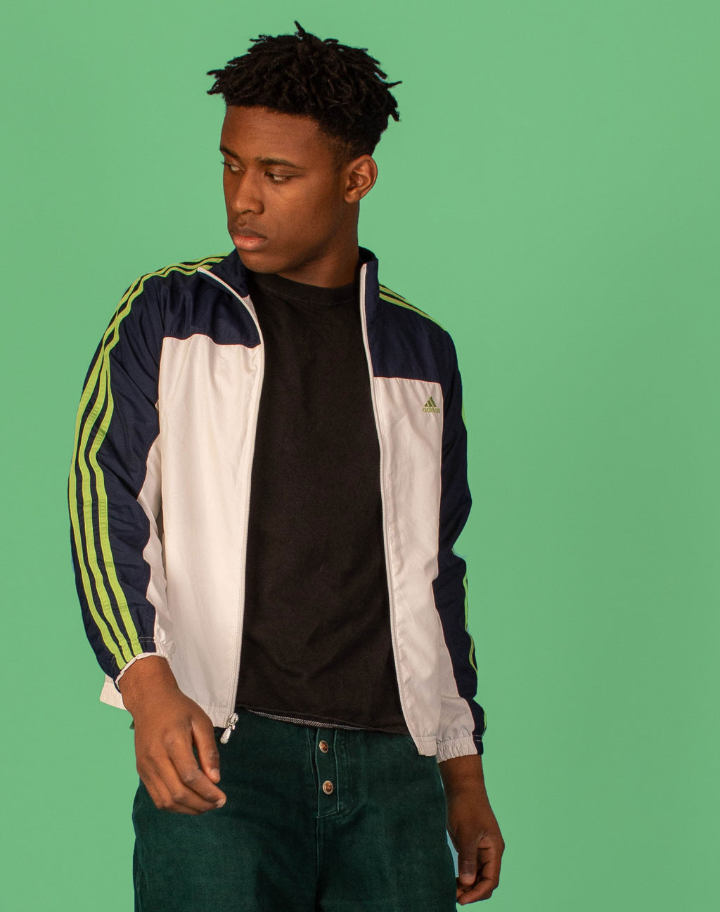 ADIDAS NAVY/WHITE TRACK JACKET