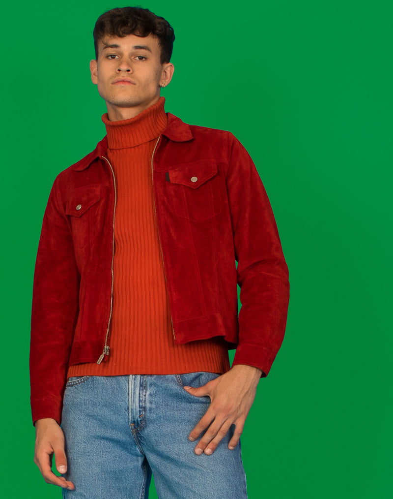 GUESS RED SUEDE JACKET