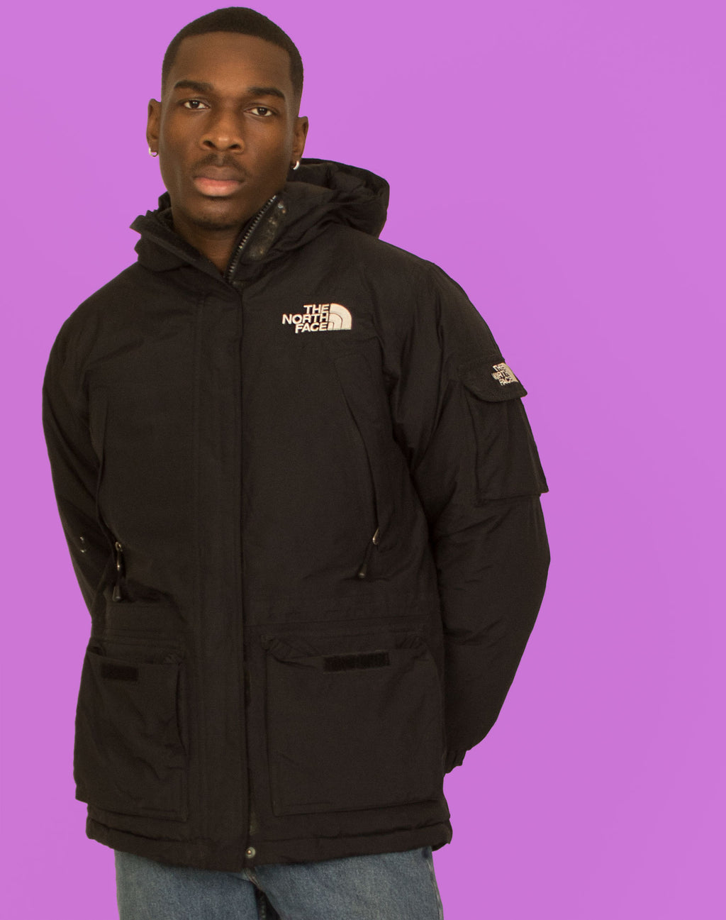NORTH FACE BLACK PADDED COAT
