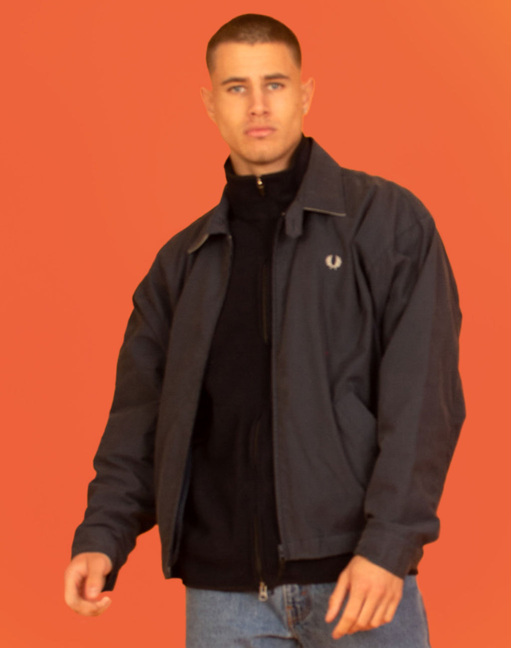FRED PERRY NAVY JACKET