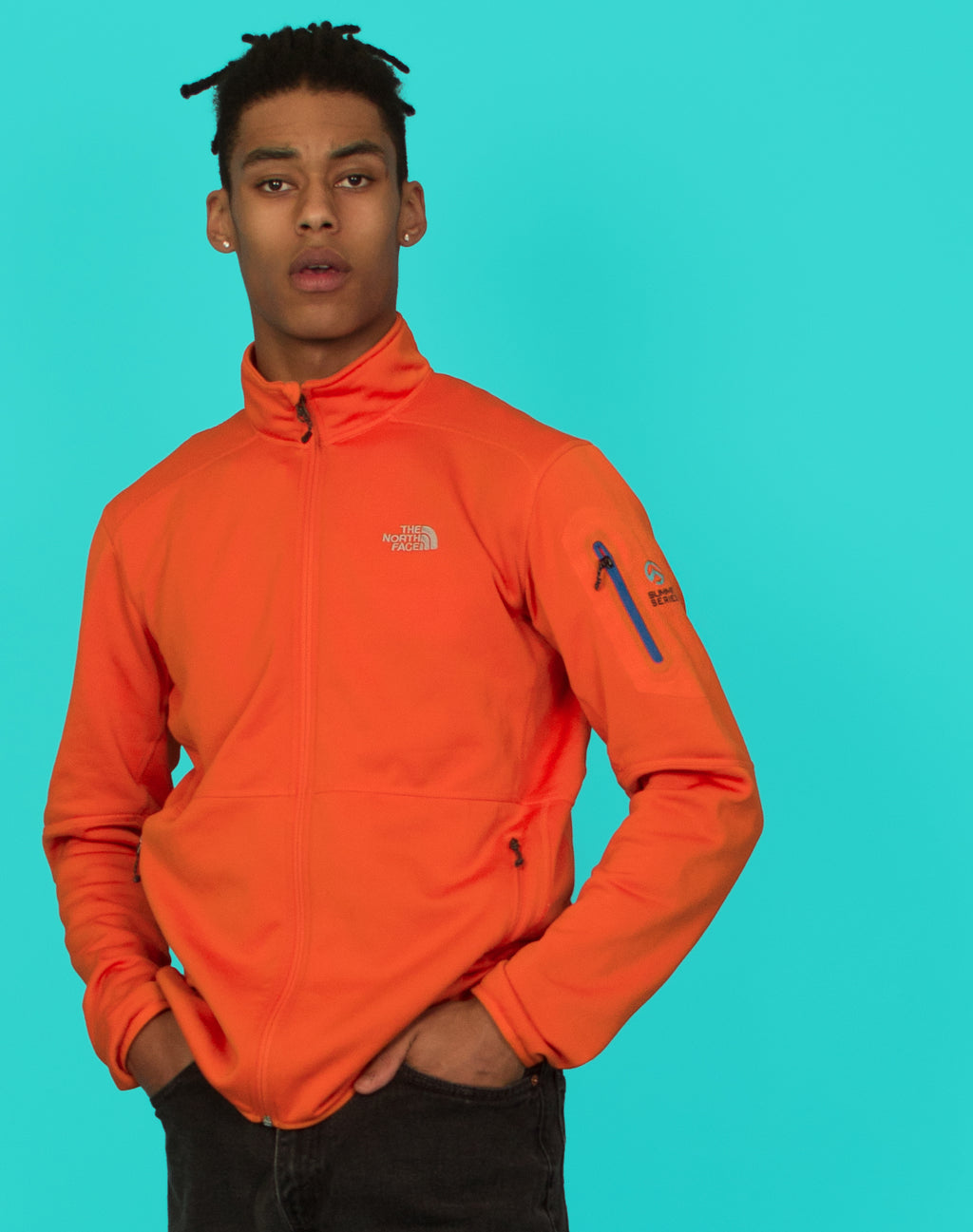 NORTH FACE ORANGE SUMMIT JACKET