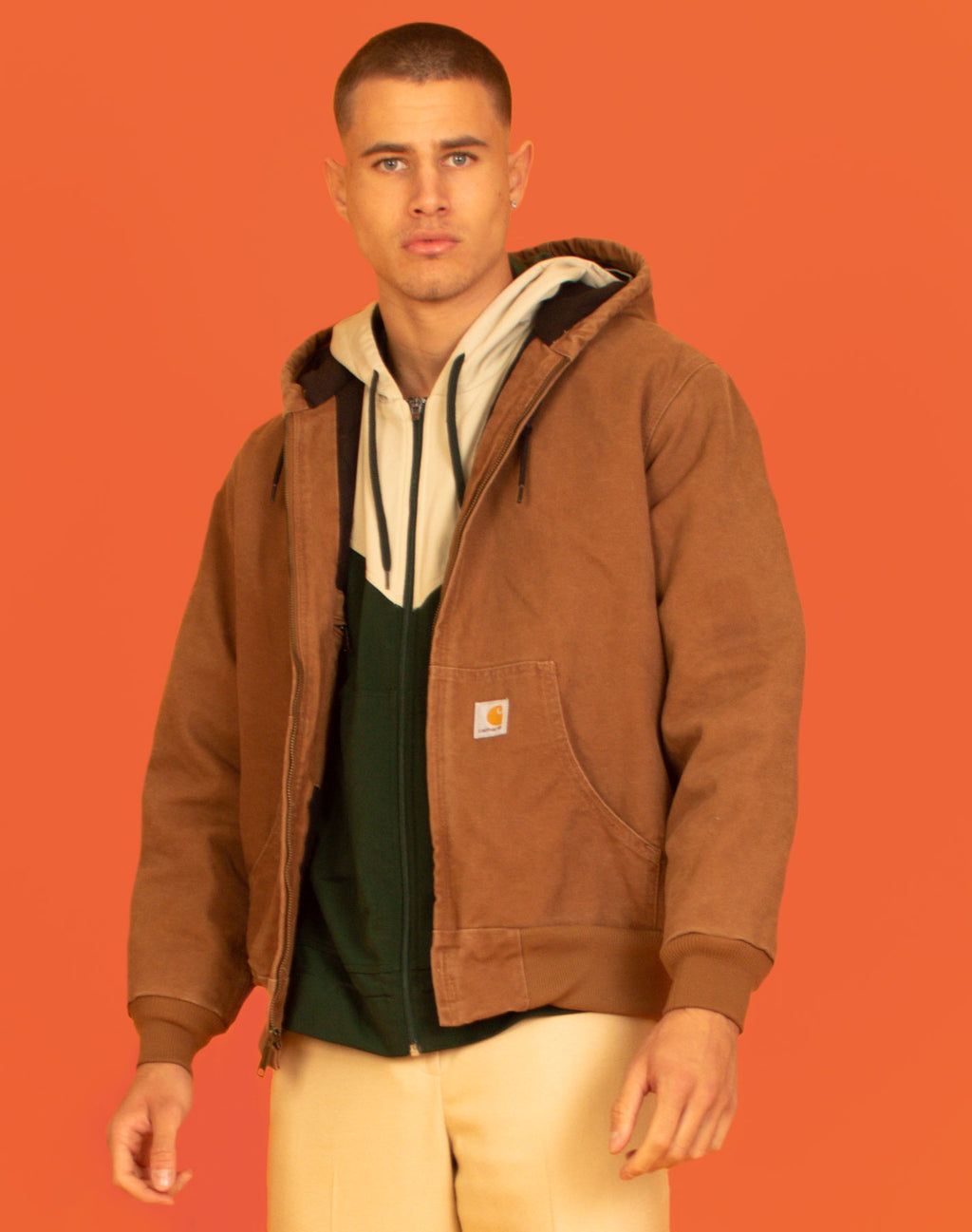 CARHARTT BROWN WORKER JACKET