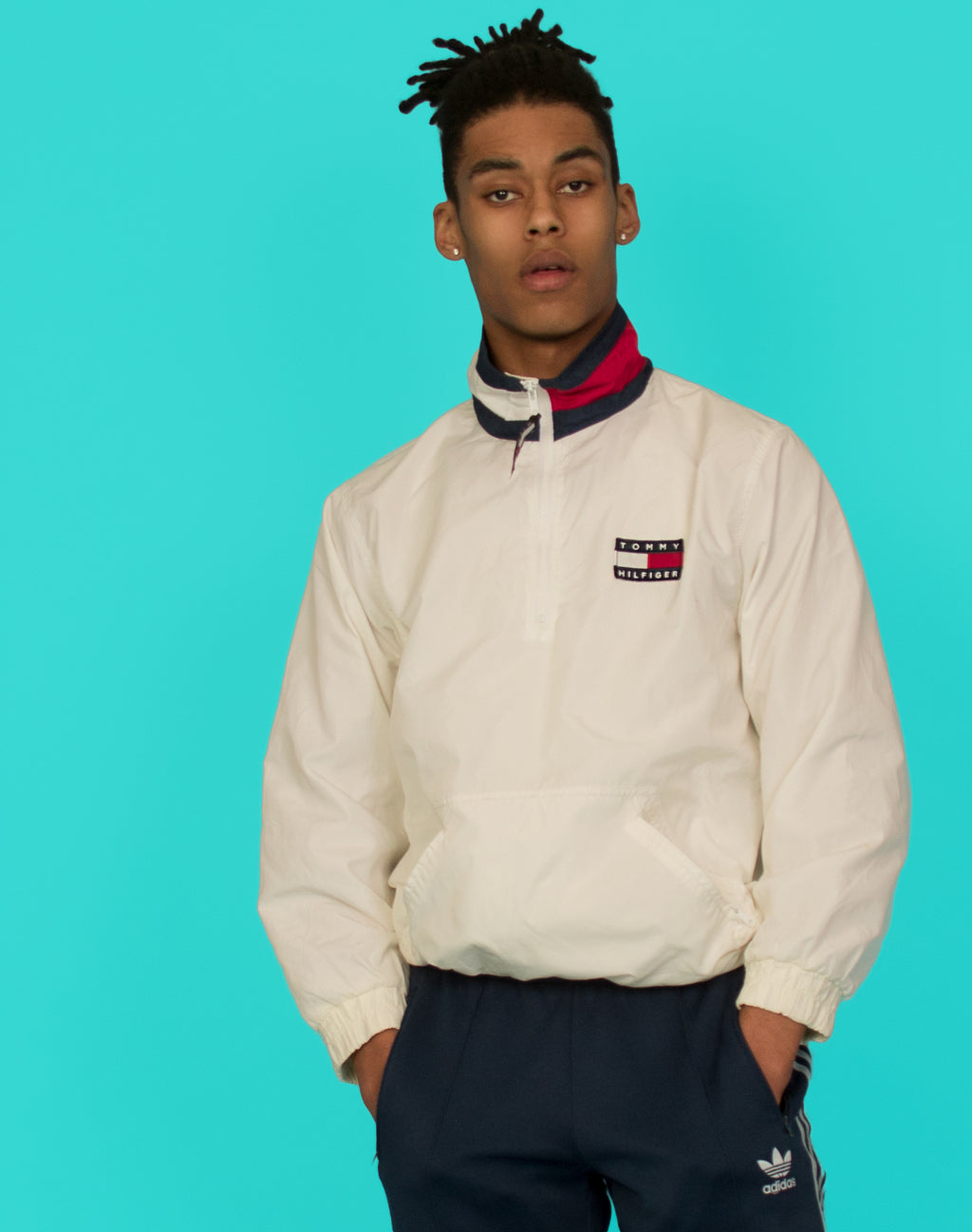 TOMMY HILFIGER WHITE WATERPROOF PULLOVER