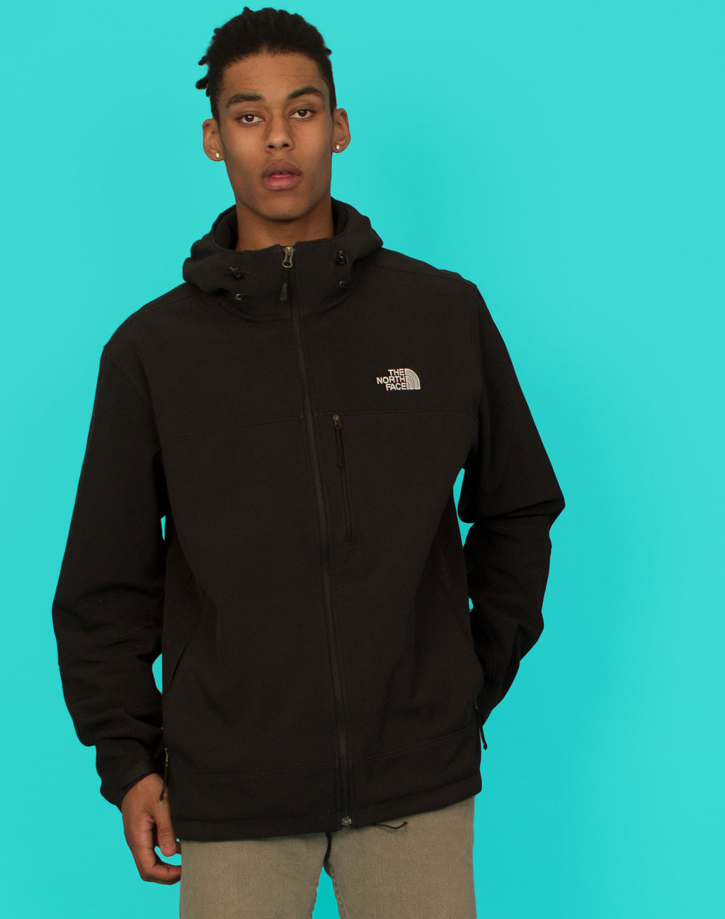 NORTH FACE BLACK WATERPROOF COAT