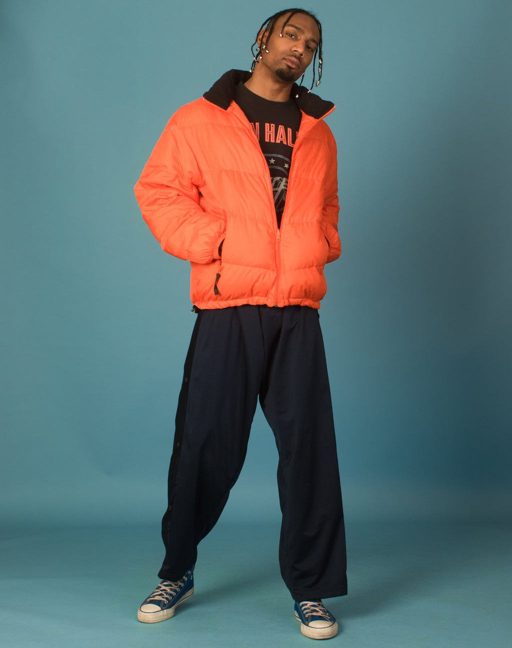 NAUTICA ORANGE PUFFER JACKET