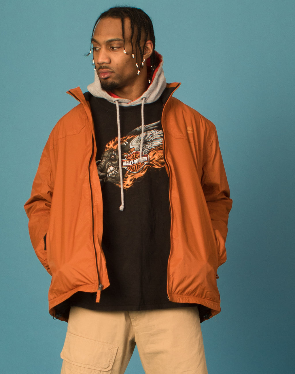 TIMBERLAND TERRA COTTA WATERPROOF JACKET