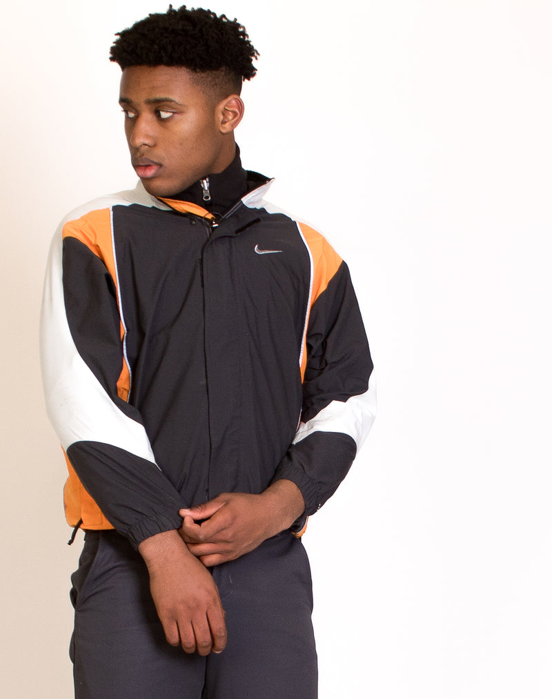 NIKE GREY WINDBREAKER JACKET
