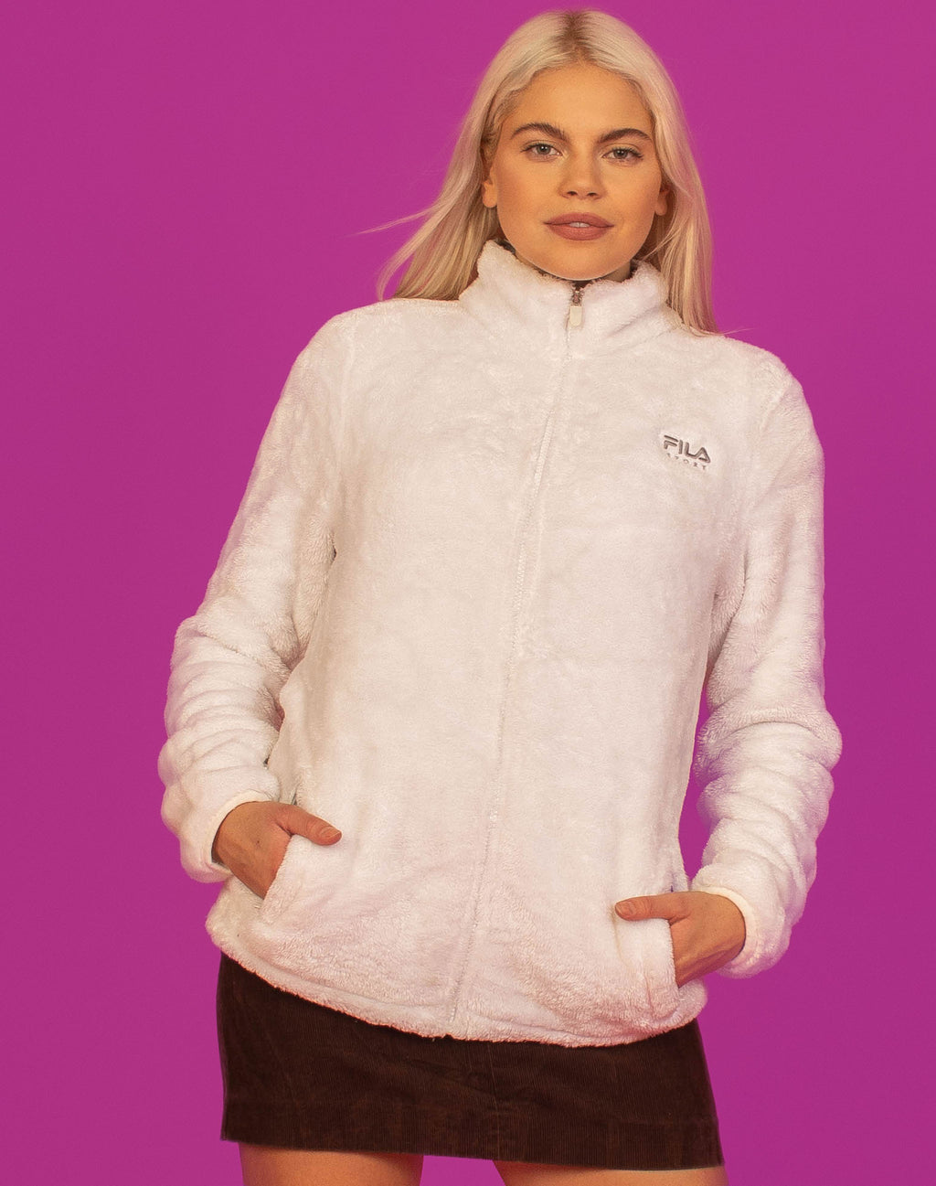 FILA WHITE ZIP FLEECE