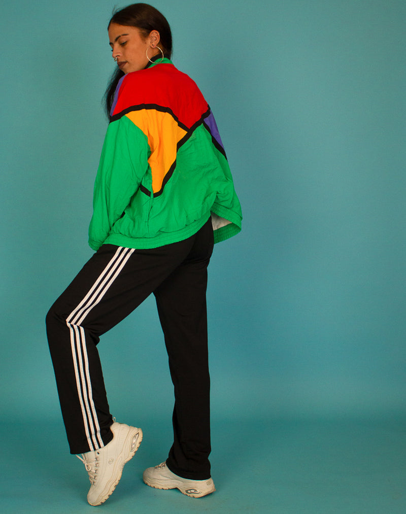 MULTI COLOURED WINDBREAKER JACKET