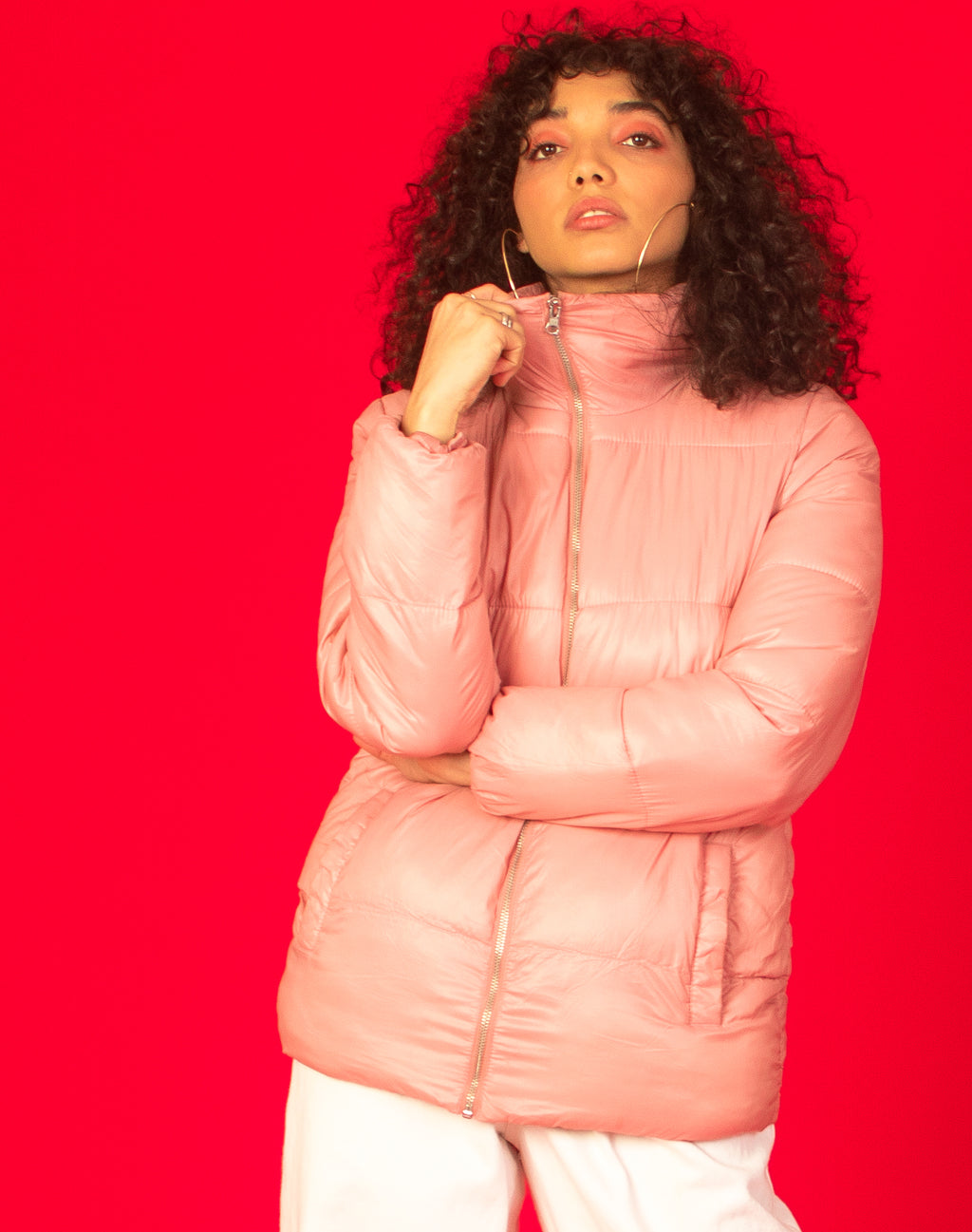 BABY PINK PUFFER JACKET