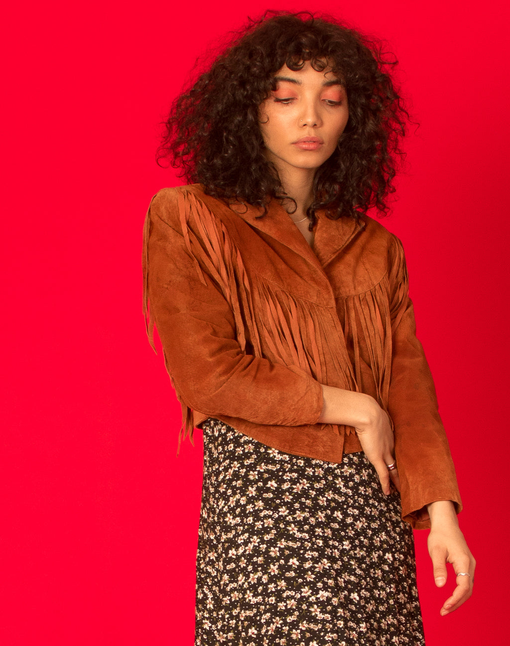 BROWN SUEDE COWBOY JACKET