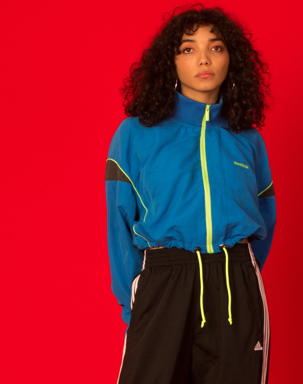 REEBOK BLUE WINDBREAKER JACKET