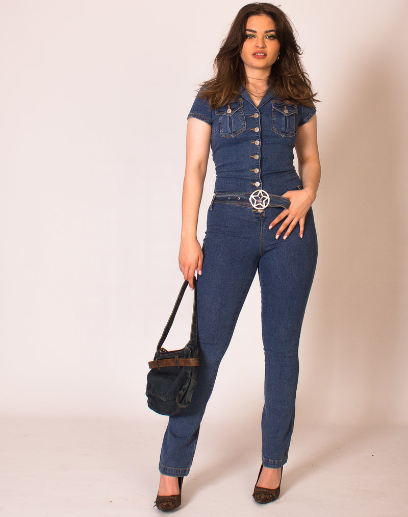 PLAYBOY DENIM JUMPSUIT