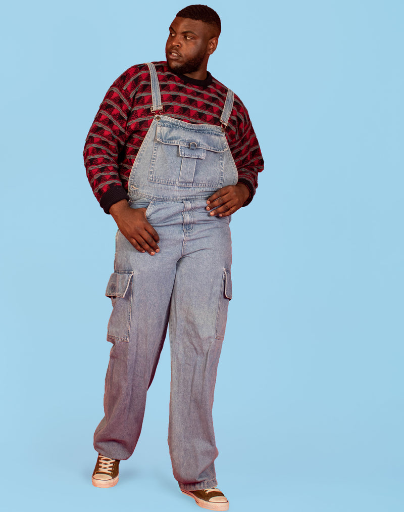 LIGHT BLUE DENIM DUNGAREES