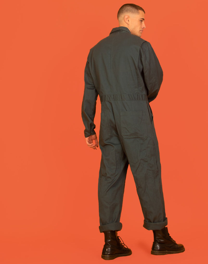 TEAL CANVAS BOILER SUIT