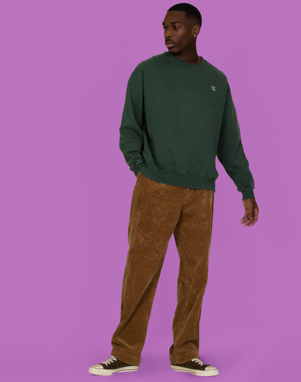 CHAMPION DARK GREEN SWEATER