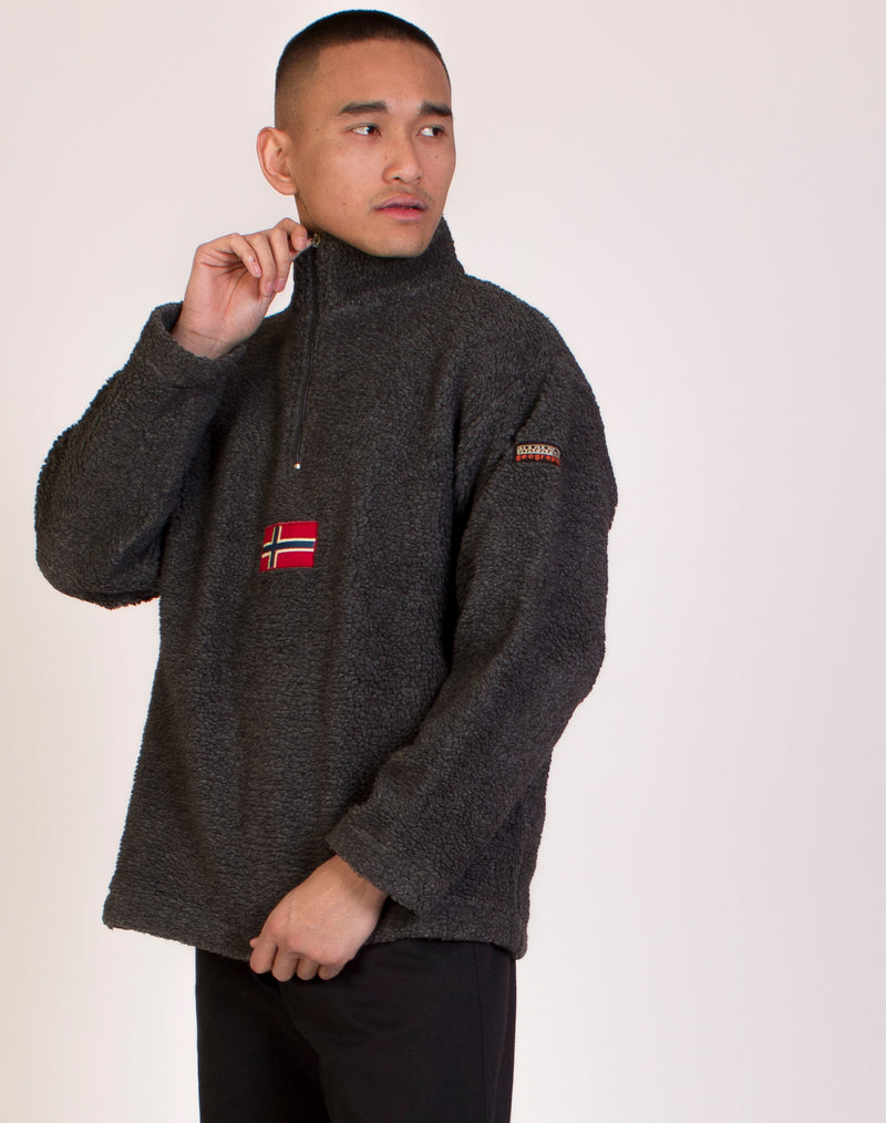 NAPAPIJRI 3/4 ZIP KNITTED JUMPER