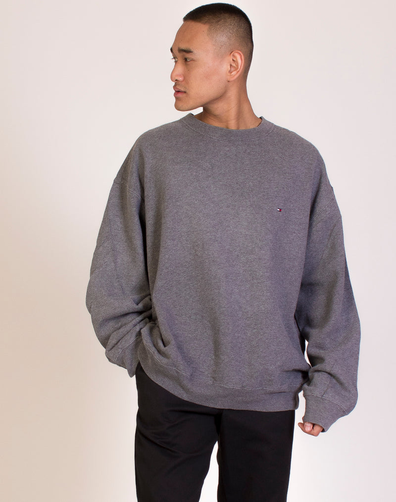 TOMMY HILFIGER OVERSIZED GREY SWEATSHIRT