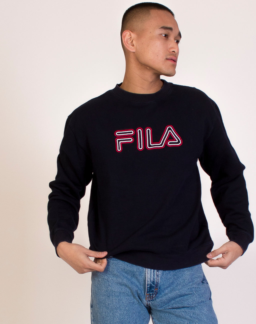 FILA NAVY LOGO SWEAT