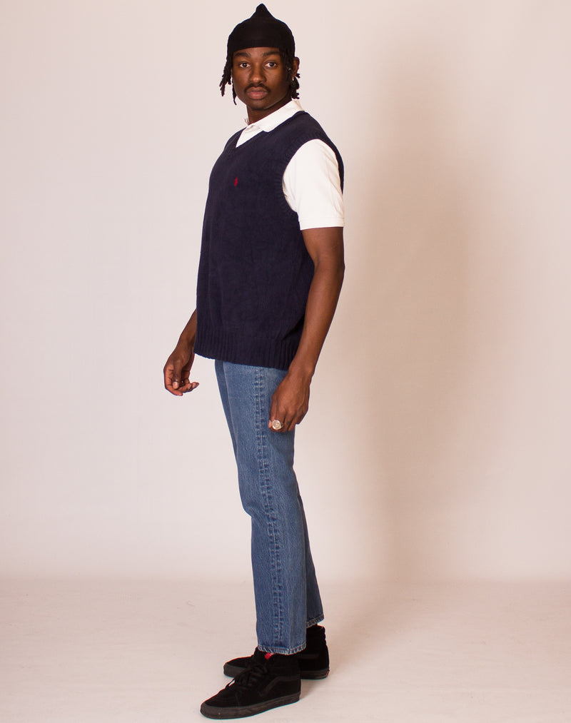 RALPH LAUREN NAVY SWEATER VEST