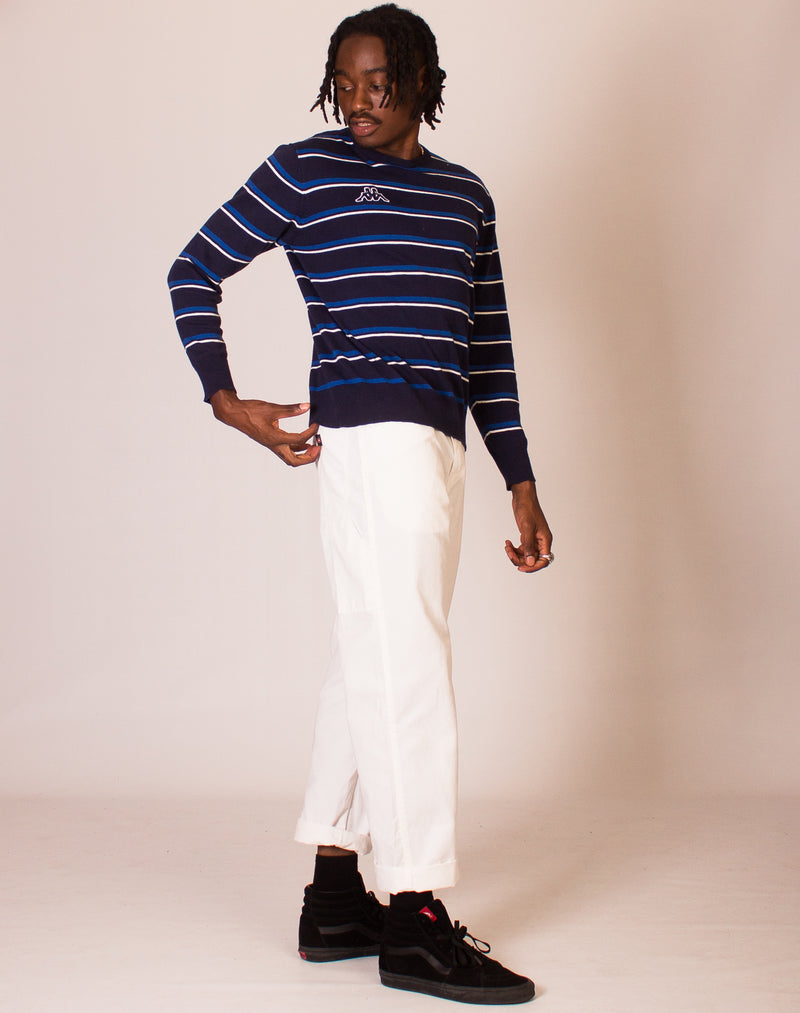 KAPPA BLUE STRIPED KNITTED JUMPER