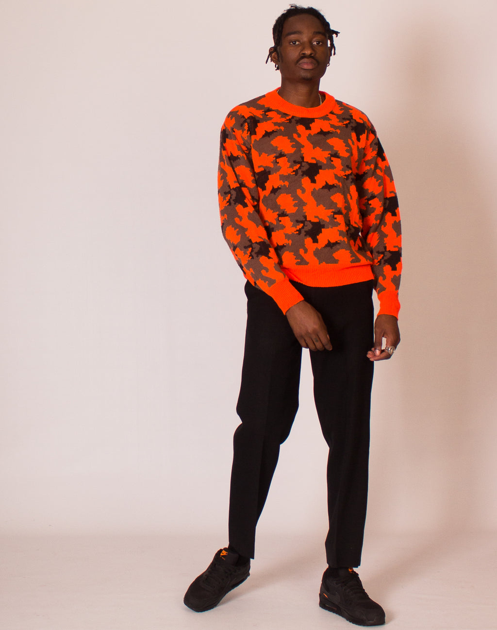 ORANGE CAMO JUMPER