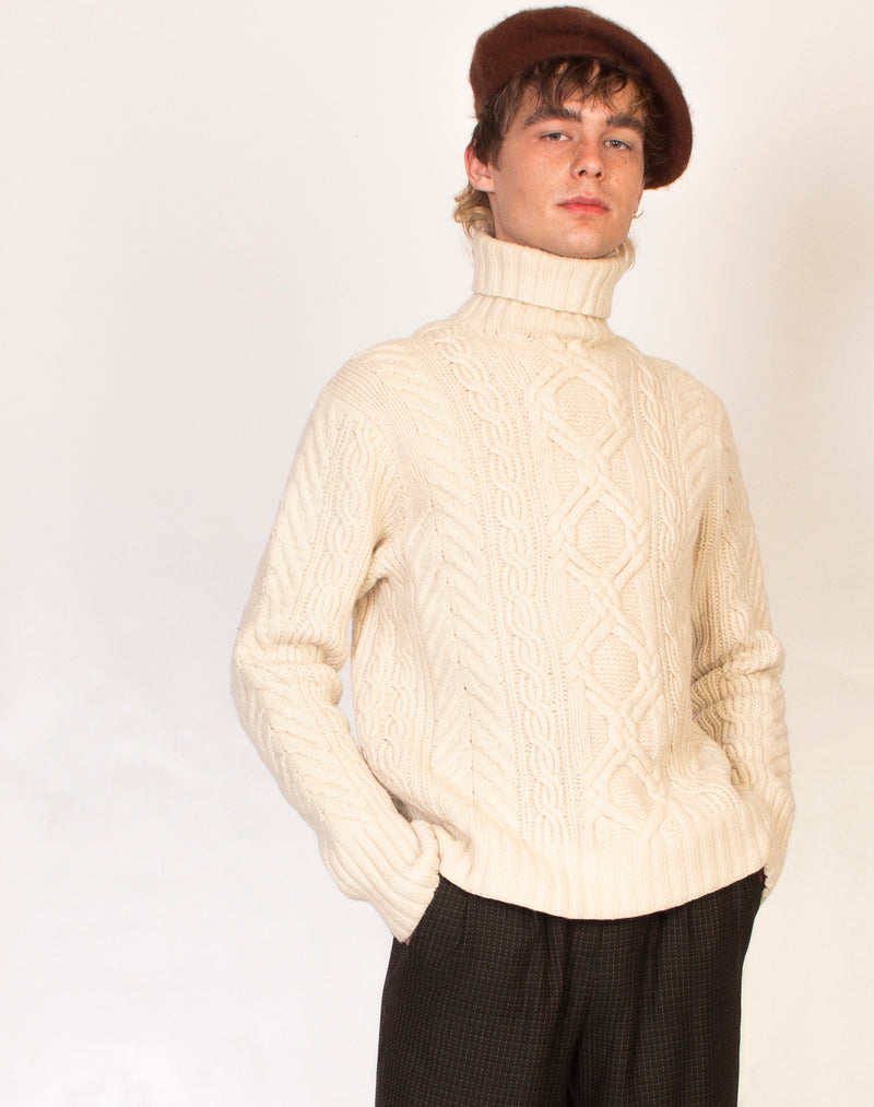 RALPH LAUREN ARAN KNIT JUMPER